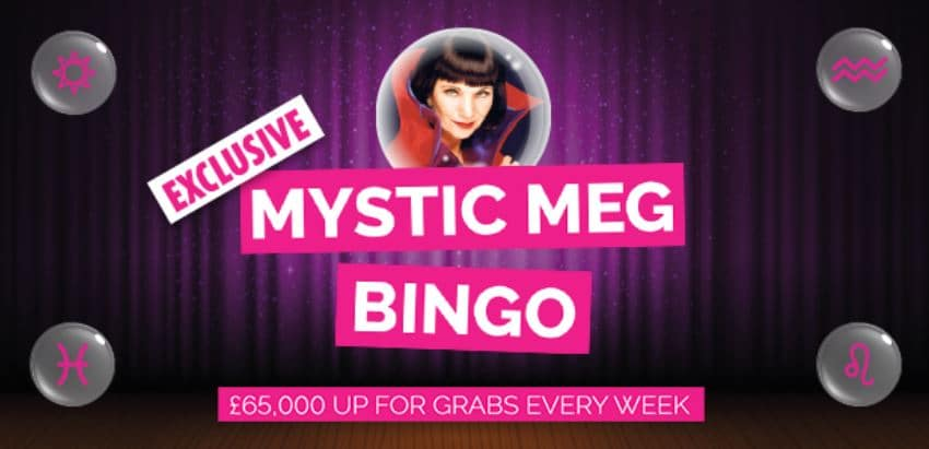 play mystic meg bingo at fabulous bingo